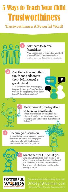 5 Ways to Teach Your Child Trustworthiness #parenting #infographic #drrobyn