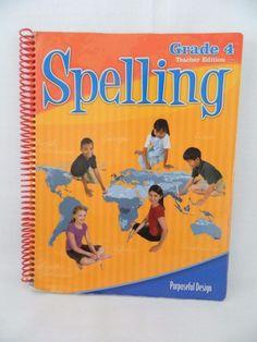 ACSI Spelling 4 Teacher Ed w. CD, Purposeful Design Homeschool / School #Textbook