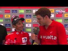 Esteban Chaves Interview 2015 Vuelta a España Stage 8 - YouTube