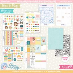 PP/196/GL/FGCK - Print&Play - Gracelilly Faith Girl Club KIT (Eng/Afr) - Vibrance Collection Girls Club, Printable Paper, Order Prints, Paper Crafts, Printables, Faith, Collections, Play, Creative