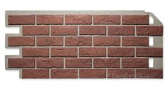 To hide the cinderblock? Nailon faux brick siding panels recreate the look of real brick with an easy to install design. Faux Stone Siding, Brick Siding, Brick Paneling, Exterior Siding, Vinyl Siding, Brick Veneer Panels, Faux Brick Panels, Mobile Home Skirting, Fake Brick