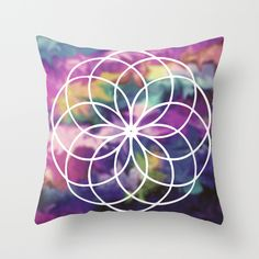 It all blurs together Throw Pillow