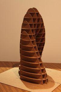 Architecture cardboard sculpture - $220