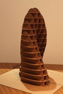 Architecture cardboard sculpture - $220