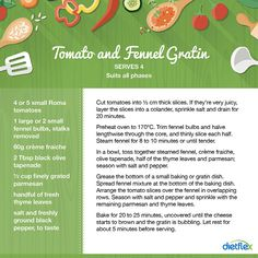 Tomato and fennel gratin #dietflex #healthyrecipes
