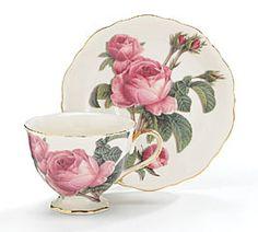 Romantic Rose Teacup Tea Cup and Saucer