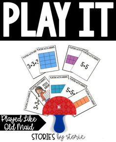 Playing with Arrays is played like Old Maid. This is a fun way to practice matching picture arrays with repeated addition equations.