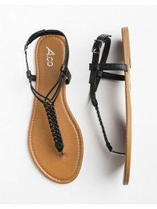 5e830efab Black braided sandals - Ardene Braided Sandals