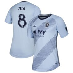 5cb6347f5 Graham Zusi  8 Sporting Kansas City Primary Blank Jersey â   Blue 2019-2020