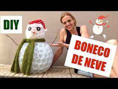 Natal #1 | DIY | Boneco de neve com copos descartáveis - YouTube