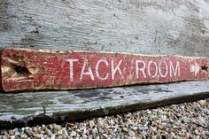 """Equestrian Tack Room Rustic Distressed 36"""" Directional Arrow Wood Sign by TheUnpolishedBarn on Etsy https://www.etsy.com/listing/210812645/equestrian-tack-room-rustic-distressed"""