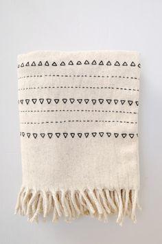 Blanket - Black Druzi Wool by KOROMIKO