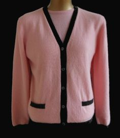 Vintage 50s Red Cashmere Cardigan Sweater - by de Loux - Size M ...