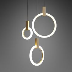 Simple as it looks, this pendant light is dominated by the circle and clean lines to make a striking statement. The combination of wood and acrylic works well in this lighting for a minimal and elegant touch. It features an acrylic ring to generate a halo