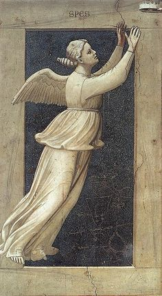 Giotto di Bondone, The Seven Virtues: Hope. 1306.  Fresco, 120 x 60 cm. Capella Scrovegni (Arena Chapel).