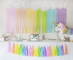Rainbow Birthday Party, 25th Birthday, Unicorn Birthday Parties, Unicorn Pinata, Unicorn Party, Girl Birthday Decorations, My Little Pony Birthday, Ideas Para Fiestas, Fiesta Party