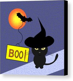 """A #funny canvas print, perfect for hanging on your wall for #Halloween Your canvas print will be delivered to you """"ready to hang"""" with pre-attached hanging wire, mounting hooks, and nails."""