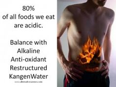 Feel the Burn... when you work out... not when you eat.  Time for ballance... Kangen Water