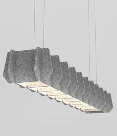 ThinkLab door Luxxbox Matrix, Is een lamp die zorgt voor een goede akoestiek. Te krijgen in verschillende onderdelen en afmetingen. Is voor een groot deel van gerycled materiaal. 411x200 prijs op aanvraag