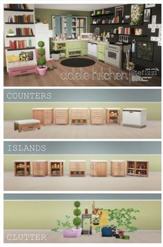 Adele Kitchen - Amazing!!! | Kitchen + Clutter | by stefizzi via tumblr | Sims 4 | TS4 I Maxis Match | MM | CC | Pin via sueladysims