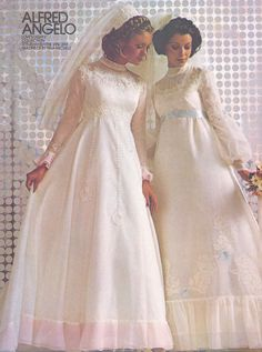 Alfred Angelo Love Lights Collection vintage designer fashion bride ad from 1974