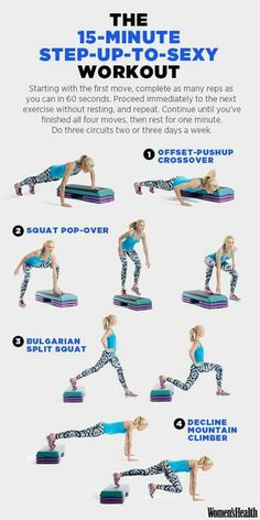 This Workout Lets You Torch Fat While Strength Training Womens Health Magazine Step Ejercicios, Step Aerobik, Exercice Step, Fitness Inspiration, Style Inspiration, Fitness Tips, Fitness Motivation, Fitness Workouts, Training Workouts