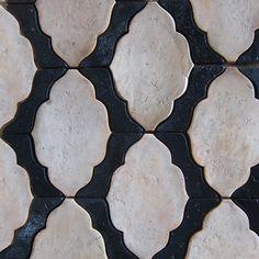 Handmade terracotta tile, reclaimed wood, and unique stone by Tabarka Studio. Tile handmade and hand painted by artisans. Tabarka Tile, Mosaic Tiles, Tiling, Bathroom Floor Tiles, Tile Floor, Wall Tiles, Motifs Textiles, Tile Saw, Tile Patterns