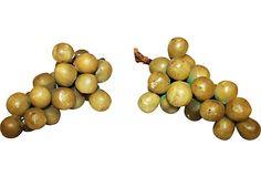 Alabaster Grapes, Pair: $395 retail, $95 sale
