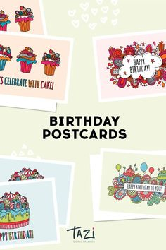 Set of four birthday greetings with doodle illustrations can be used in your social media feed, in presentations or to print out by Tazi Graphics. #happybirthday #birthdaygreetings #printable #postcards #instantdownload #tazigraphics Doodle Illustrations, Graphic Illustration, Fourth Birthday, Birthday Celebration, Happy Birthday Wishes, Birthday Greetings, Printable Postcards, Birthday Postcards, Silhouette Cameo Projects
