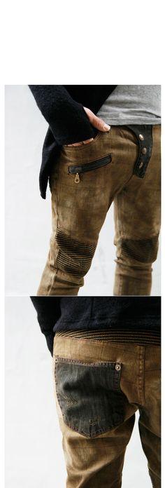 Fast Fashion Men Clothes Online   www.GUYLOOK.com     Get It Now                            FUTURISTIC SLIM STRAIGHT CUT CHECKERED BIKE...