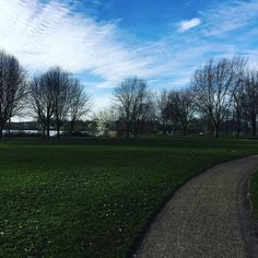 Today Milton Keynes is beautiful. It's not raining. It's not freezing cold or windy. It's just beautiful. Today walking is a joy. Thanks MK!