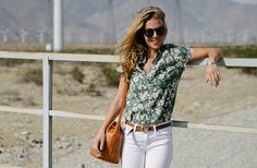 Alison carries the J.Crew Downing bucket bag in Joshua Tree National Park. Find out more at jcrew.com/blog.