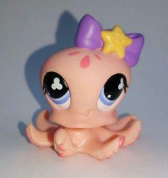 Littlest Pet Shop Pink Octopus Purple Bow #513 Preowned LPS in Toys & Hobbies, Preschool Toys & Pretend Play, Littlest Pet Shop   eBay