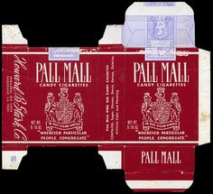 Stark - Pall Mall Candy Cigarettes box - 1970's by JasonLiebig, via Flickr