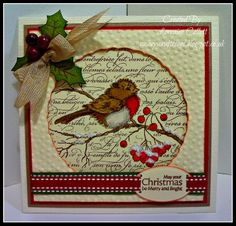 Stampendous Snow Bird--love the masking used for this focal