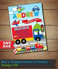 Transportation Invitation Transportation by ThePrintableOccasion