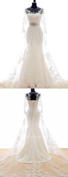 2017 wedding dress, mermaid long wedding dress, long wedding dress, bridal gown