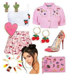 """""""Fun & Flirty"""" by aheavingham on Polyvore featuring Christian Louboutin, RED Valentino, Moschino, Valley Cruise Press, J.Crew and Kate Spade"""