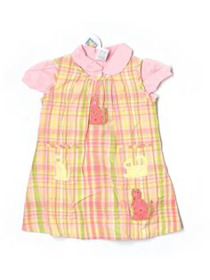 New Toddler Girl Lilly April Cornell Kitty Cat Plaid Summer Dress Size 2/2T #AprilCornell #Everyday