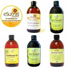 Try eSutras Culinary Oils!  Add to a salad, drizzle on some veggies or saute your main dish!  #esutras_organics #oils #culinaryoils #oliveoil #sunfloweroil   Available at www.esutras.com