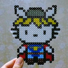 Thor Hello Kitty perler beads by j_minseon