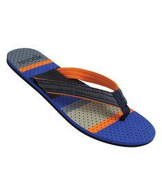 04eca31ee Blue  amp  Orange Variegated Flip-Flop by Rockin Footwear  zulily   zulilyfinds Blue