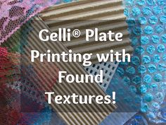 Gelli® Printing with DIY & Found Texture Tools ! Loaded with GREAT ideas for Gelli printing. Mix Media, Round Robin, Gelli Plate Printing, Transfer Printing, Gelli Arts, Art Journal Techniques, Plate Art, Stencil Designs, Art Lessons