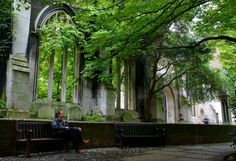 St.Dunstan in the East Church Garden, London The bombed ruins of a medieval church and Wren Tower made into a charming scene by imaginative planting of wall shrubs and climbers, and an effective fountain. An outstanding example of a small City space, which makes the maximum use of scarce resources. Designed by the City of London Architects and Parks Departments in 1971. It won a Landscape Heritage Award in 1976. Off Roehampton Lane.