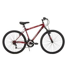 Mens Alpine Bicycle 26 In. Large Durable Steel Hard Tail Frame Metallic Crimson #MensBicycle