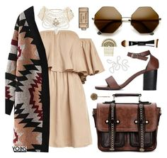 """""""Yoins / BOHO, PEARLS & AZTEC"""" by pastelneon ❤ liked on Polyvore featuring Erickson Beamon, L'Oréal Paris, Marc Jacobs and Anya Hindmarch"""
