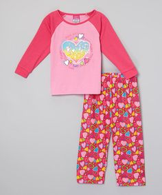 Love this Pink 'Peace, Love, Hope' Pajama Set - Infant, Toddler & Girls by Tuff Cookies on #zulily! #zulilyfinds
