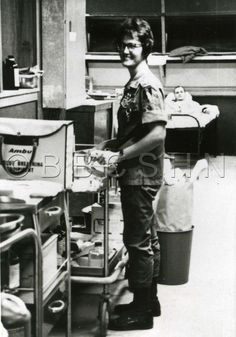Lorraine Willardt (Class of 1956), Captain ANC head nurse of Ward 4 at the 312th Evac hospital in Chu Lai, Vietnam, 1968. Image courtesy of the Barbara Bates Center for the Study of the History of Nursing.