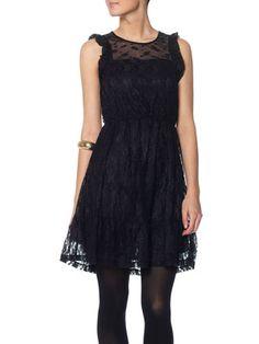REMI SL SHORT DRESS, BLACK, main