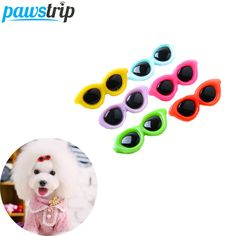 1pc Fashion Pet Dog Hair Bows Sunglasses Design Chihuahau Yorkie Dog Hair Grooming For Small Dogs 3.8*1.5cm